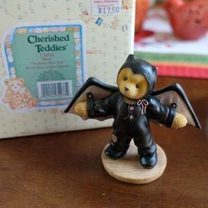 "Cherished Teddies ""Barry"" Bat Costume Figurine"